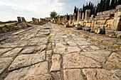 The Roman Road. Hierapolis. Ancient Greece. Asia Minor. Turkey.