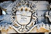Medusa Head. Temple of Apollo. Didyma. Ancient Classic Greece. Asia Minor. Turkey.