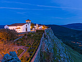 The church Santa Maria. Marvao a famous medieval mountain village and tourist attraction in the Alentejo. Europe, Southern Europe, Portugal, Alentejo.