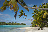 Aitutaki. Cook Island. Polynesia. South Pacific Ocean. Beach in One Foot Island. One Foot Island is asmall island in the district of Aitutaki of the Cook Islands in Australia. It is also known as Tapuaetai and is one of 22 islands of the atoll. You can on