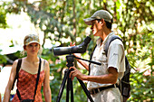 Costa Rica, Puntarenas Province, Manuel Antonio National Park, visiting with a guide