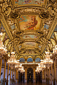 France, Paris, area listed as World Heritage by UNESCO, the Hôtel de Ville (City Hall), the Reception gallery
