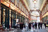 United Kingdom, London, the City, Leadenhall Market by architect Horace Jones (1881)