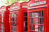 United Kingdom, London, the red telephone box designed by the architect Sir Giles Gilbert Scott in the twenties