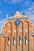 Latvia (Baltic States), Riga, European capital of culture 2014, historical centre listed as World Heritage by UNESCO, Brotherhood of the Black Heads building dating of 1344 and rebuilt in 2000