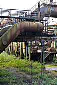 disused blast furnace in an old industrial plant, Duisburg Nord, North Rhine Westphalia, Germany