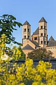 Abbey church Laacher Münster of the convent Maria Laach, near Glees, Vulkan Eifel, Eifel, Rheinland-Palatinate, Germany, Europe