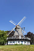 Windmill near Sobygaard, Island Ærø, South Funen Archipelago, Danish South Sea Islands, Southern Denmark, Denmark, Scandinavia, Northern Europe