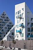 Iceberg houses in the harbour in Aarhus, Middle Jutland, Jutland, Cimbrian Peninsula, Denmark, Northern Europe