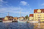 Harbour in Svendborg on the island Funen, Danish South Sea Islands, Southern Denmark, Denmark, Scandinavia, Northern Europe