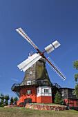 Windmill of the Castle Tranekær, Island Langeland, Danish South Sea Islands, Southern Denmark, Denmark, Scandinavia, Northern Europe