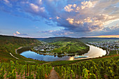 Mosel river bend near Kroev, Mosel, Rhineland-Palatinate, Germany