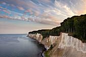 Chalk cliffs, Jasmund national park, Ruegen, Baltic Sea, Mecklenburg-West Pomerania, Germany
