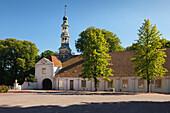 Gatehouse at Dornum castle, East Friesland, Lower Saxony, Germany