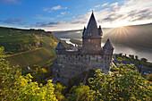Stahleck castle, Bacharach, Rhine river, Rhineland-Palatinate, Germany