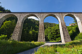 Railway viaduct, Ravennaschlucht, Black Forest, Baden-Wuerttemberg, Germany