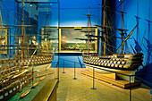 France, Paris, Musee de la Marine (Maritime Museum) in Palais de Chaillot, models room