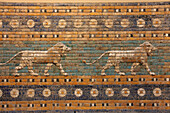 Germany, Berlin, Museum Island, listed as World Heritage by UNESCO, the Pergamon Museum (Pergamonmuseum), collection of the Near East (Vorderasiatisches Museum), Assyrian antique ceramic frieze