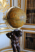 France, Yvelines, Chateau de Versailles, listed as World Heritage by UNESCO, the King's Private Apartment, Louis XVI's bookcase