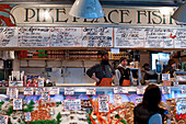 United States, Washington State, Seattle, Pike Place Market, one of the most well-known of the country