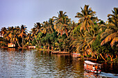 India, Kerala State, Allepey, the backwaters, fluvial transport on the canals