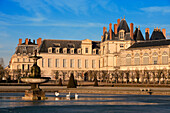 France, Seine et Marne, Fontainebleau, the Royal Castle, listed as World Heritage by UNESCO, the great basin