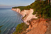 Chalk cliffs, cretaceous coast in Jasmund national park, Ruegen island, Mecklenburg Vorpommern, Germany