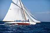 'Gaff-Schooner ''Nan of Fife'', Classic Sailing Regatta ''Les Voiles de St. Tropez'', St. Tropez, Côte d'Azur, France'