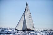 '12m Yacht ''Emilia'', Design by Attilio Costaguta 1930, Classic Sailing Regatta ''Les Voiles de St. Tropez'', St. Tropez, Côte d'Azur, France'