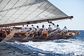 'Gaff-Cutter ''Moonbeam IV'', Naval Architect William Fife Junior 1920, Classic Sailing Regatta ''Les Voiles de St. Tropez'', St. Tropez, Côte d'Azur, France'