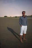 Fullmoon at the beach, Plage de L'Espiguette, Grau-du-Roi, Mediterranean Sea, Gard, Occitanie, France