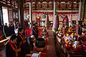Women pray during worship ceremony at A-Ma Cultural Village, Coloane, Macau, China