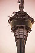 Person leaps from Macau Tower during AJ Hackett Bungy Jump (highest in the world), Macau, Macau, China