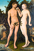Germany, Berlin, Museum Island, listed as World Heritage by UNESCO, the Bode Museum, Adam and Eve in 1533