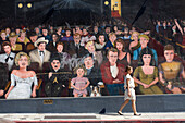 United States, California, Los Angeles, Hollywood, Wilcox Avenue, mural on the theme of the movie with Marilyn Monroe, James Dean, Charlie Chaplin