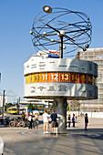 Germany, Berlin, Mitte district, Alexanderplatz, the Universal Clock
