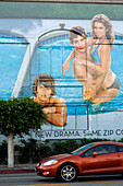 United States, California, Los Angeles, South Fairfax Avenue, advertising mural for the 90210 American series
