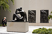 United States, New York City, The Museum of Modern Art (MoMA), sculptures garden, artworks of Henri Matisse and Aristide Maillol