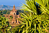 Myanmar (Burma), Mandalay Division, Bagan (Pagan), Old Bagan, archeological site with hundreds of pagodas and stupas built between the 10th and 13th centuries (aerial view)