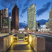 Potsdamer Platz,  Berlin , Kollhoff-Tower, Sony Center, DB Tower , Beisheim Center, S Bahn Entrance, Berlin Center, Germany