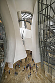 Indoor view of Guggenheim Museum Bilbao , museum of modern and contemporary art , architect Frank Gehry , Bilbao, Basque Country, Spain (editiorial only)