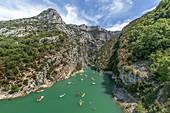 Water sports in Gorges du Verdon, Peddleboats, Canoes,  Alpes-de-Haute-Provence,Provence-Alpes-Cote-d-Azur