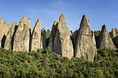 The Penitents des Mees, between Forcalquier, Sisteron and Digne, Alpes-de-Haute-Provence, France