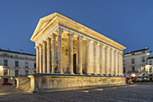 Maison Carrée , ancient Roman temple , Place de la Maison Carrée, Nîmes, Languedoc-Roussillon, Gard Department, France