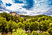 View of Loket Castle in the countryside of the West Bohemian Spa triangle outside of Karlovy Vary, Bohemia, Czech Republic, Europe