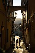 Narrow Street, Imperia, Liguria, Italy, Europe