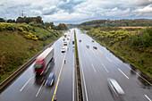 A1 near Remscheid, German Autobahn, motorway, freeway, highway, wet, rain, speed, speed limit, traffic, infrastructure, Germany