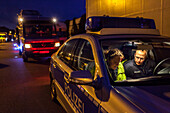 German Autobahn, traffic control, Autobahn police, patrol, car, truck, motorway, highway, freeway, night, speed, speed limit, traffic, infrastructure, Germany