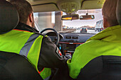 German Autobahn, A 2, driving, Autobahn police, patrol, uniform, motorway, freeway, speed, speed limit, traffic, infrastructure, Hanover, Germany