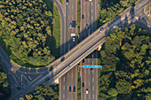 aerial, German Autobahn, A 2, motorway, highway, freeway, overpass, speed, speed limit, traffic, infrastructure, Germany
